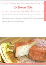 Banana Cake, le gâteau à la banane moelleux mais avec un bon maintien ! 10