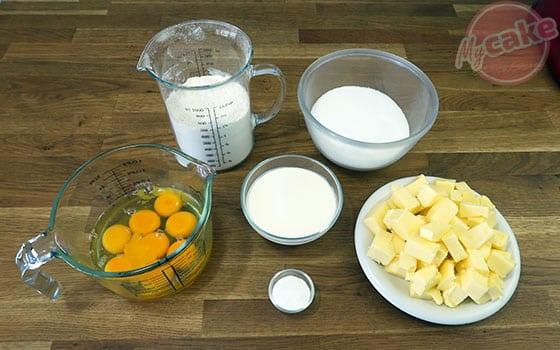 Victoria Sponge Cake - Ingrédients nécessaires