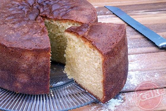 Victoria Sponge Cake à l'intérieur