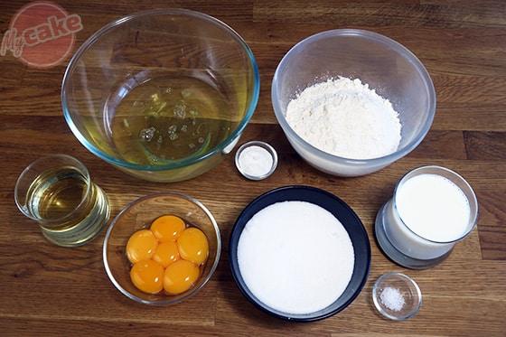 Chiffon Cake - Les ingrédients nécessaires