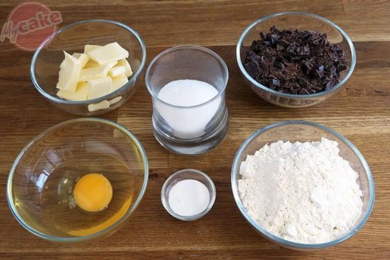 Cookie au chocolat - Les ingrédients nécessaires