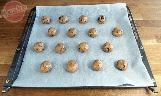 Cookie au chocolat - Faire des boules de pâte