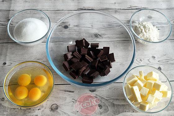 Fondant au Chocolat - Les ingrédients nécessaires