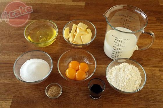 Gâteau Magique - Les ingrédients nécessaires