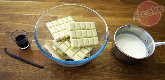 Ganache Vanille - Les ingrédients nécessaires