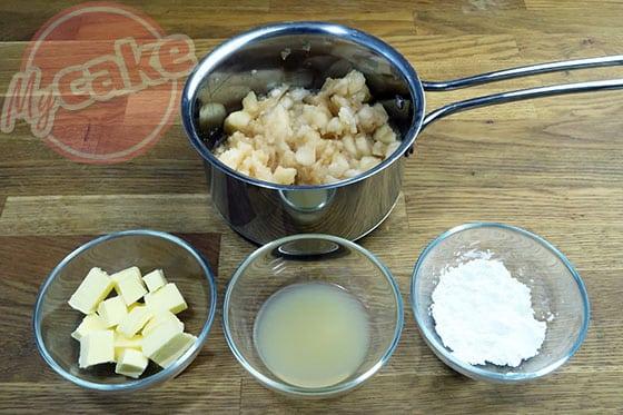 Curd Poire - Ingrédients nécessaires