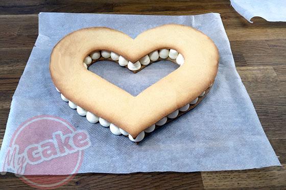 Number Cake - Recouvrez du 2ème étage de biscuit