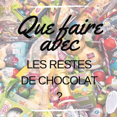 Que faire avec les restes de chocolat ?