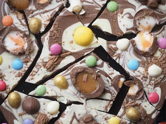 Tablette de chocolats reconstituée