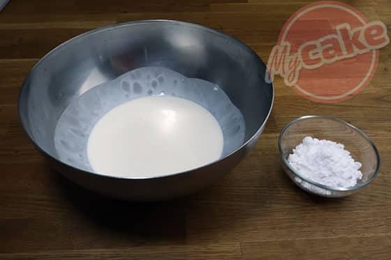 La Pavlova - Ingrédients pour la crème chantilly