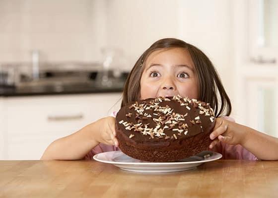 Dégustation gâteau au chocolat