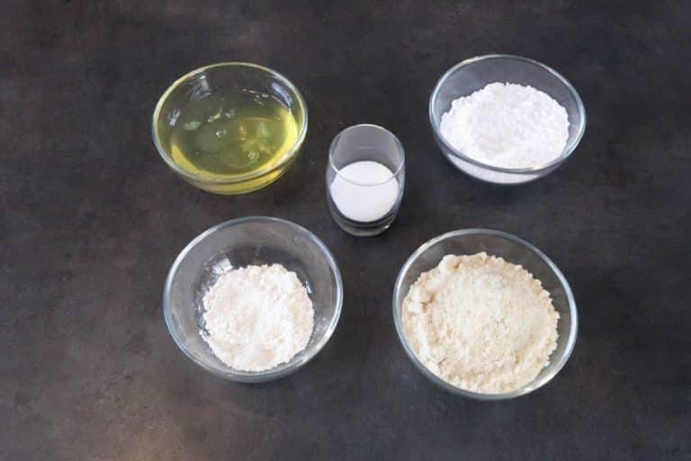 Ingrédients pour la dacquoise noisette