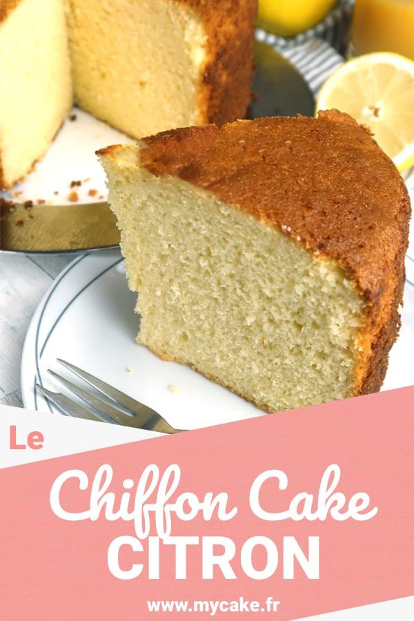 Chiffon Cake au Citron