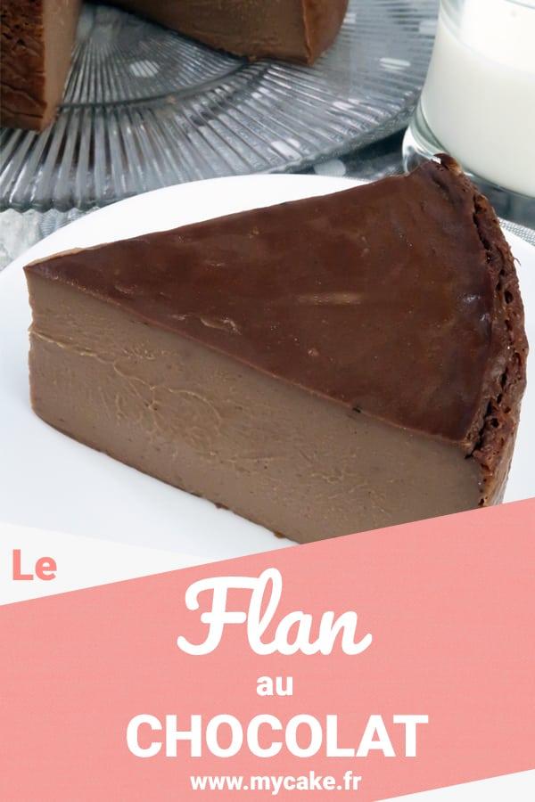Le Flan au chocolat sans pâte, crémeux et gourmand ! 5