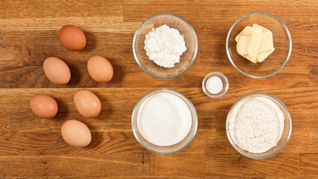 ingrédients du biscuit roulé