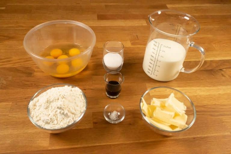 Pâte à crêpes - Ingrédients nécessaires