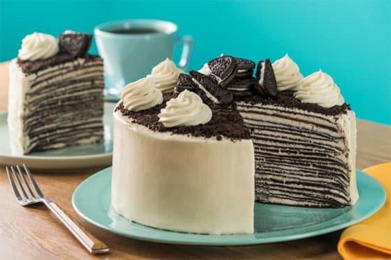 Pâte à crêpes en gâteau