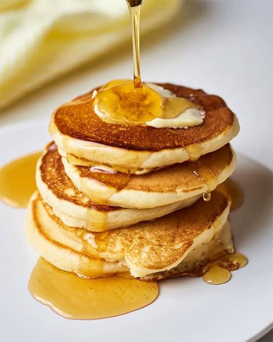 Pâte à crêpes en pancake
