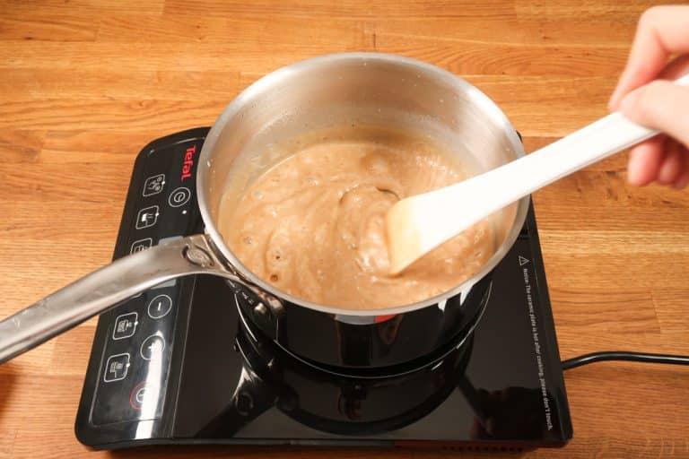 Caramel au beurre salé - Prolonger la cuisson jusqu'à la texture voulue
