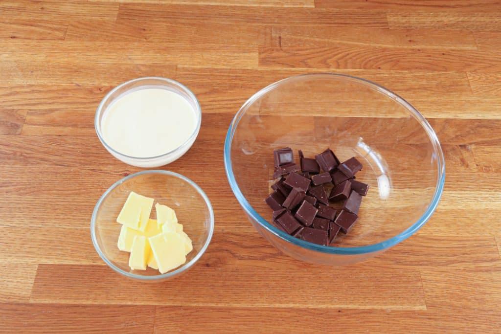 Coeur coulant chocolat - Ingrédients du coeur de ganache