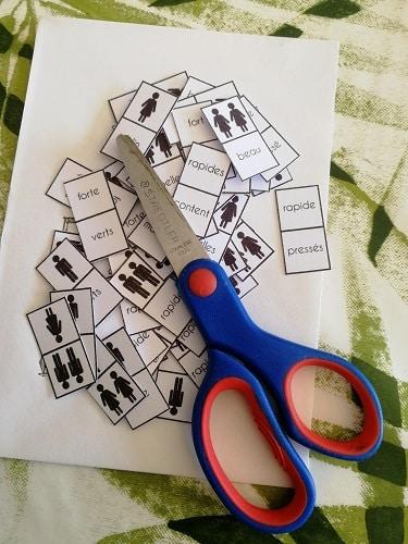 découpage dominos