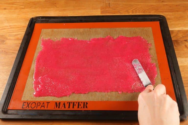 Sugar Sheet - Etaler la préparation