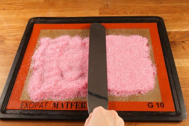 Sugar Sheet - Etaler le sucre saupoudré