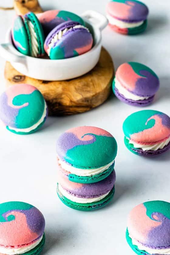 Macaron multicolore