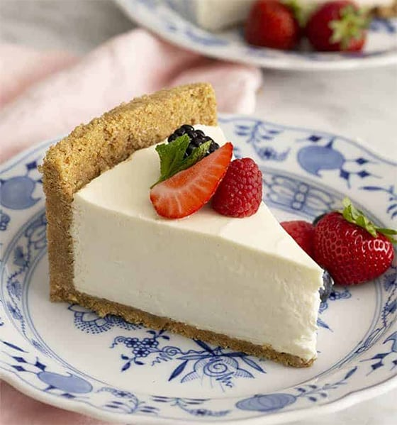 Cheesecake avec croute