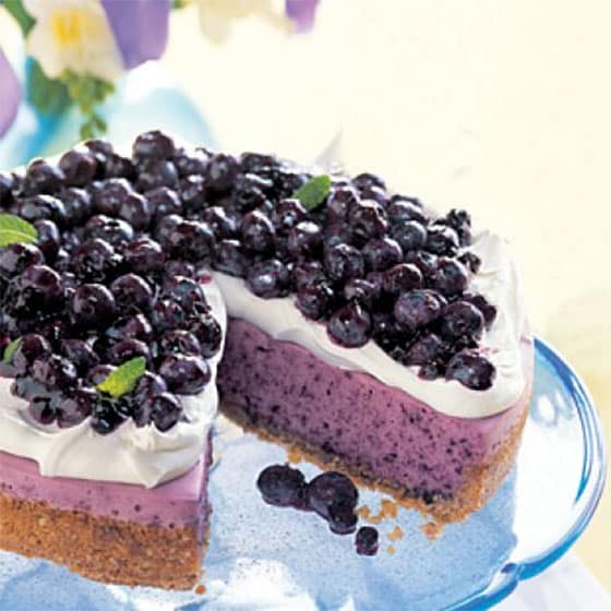 Cheesecake myrtille