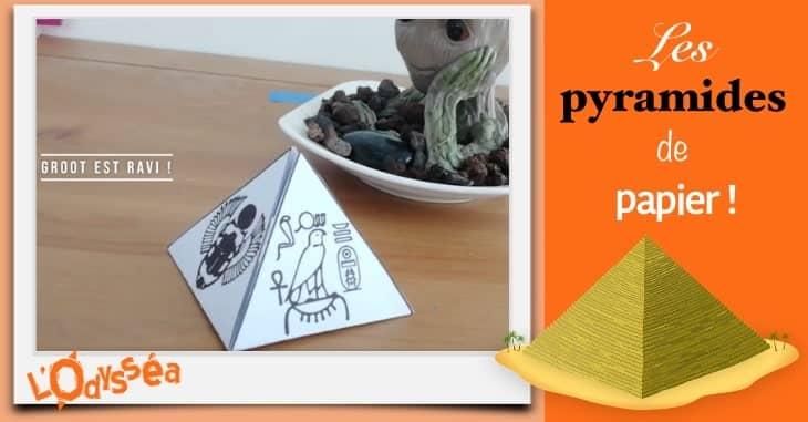 Les pyramides en papier, avec Iza et Ben. 1