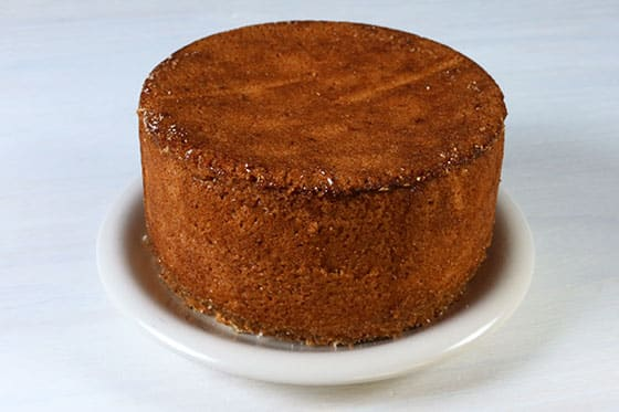 Gâteau de Savoie - Caramélisation