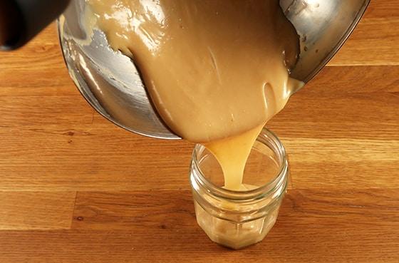 Confiture de lait - Verser dans le récipient final