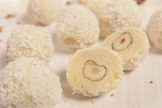 La Truffe au chocolat blanc, fondante et exquise ! 6