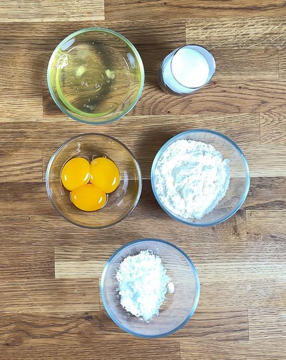 Fraisier Ingrédients du biscuit cuillère