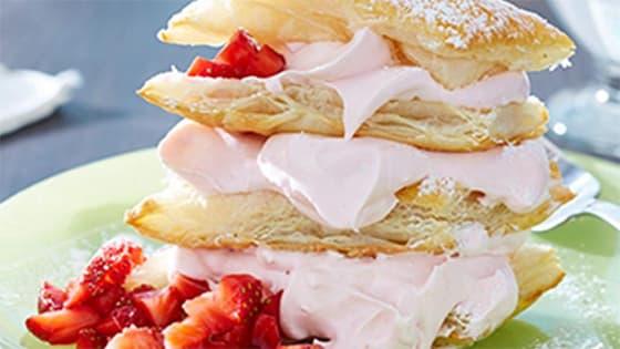 Crème pâtissière fruits rouges