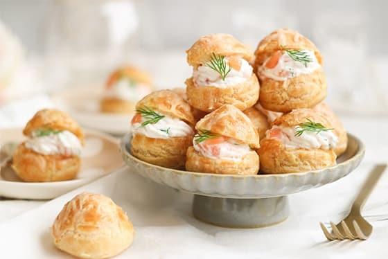 Pâte à choux au saumon
