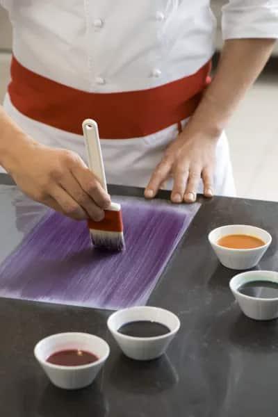 Colorant alimentaire beurre de cacao coloré