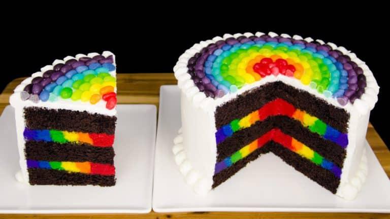 Rainbow Cake, le gâteau arc en ciel remplie d'une multitude de couleurs ! 15