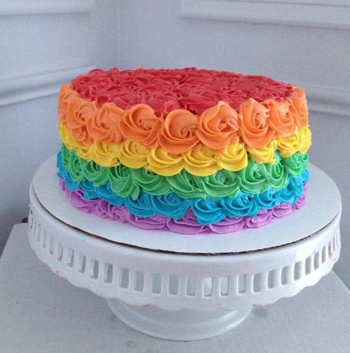 Rainbow Cake, le gâteau arc en ciel remplie d'une multitude de couleurs ! 9
