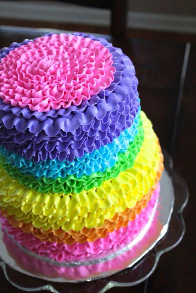 Rainbow Cake, le gâteau arc en ciel remplie d'une multitude de couleurs ! 7