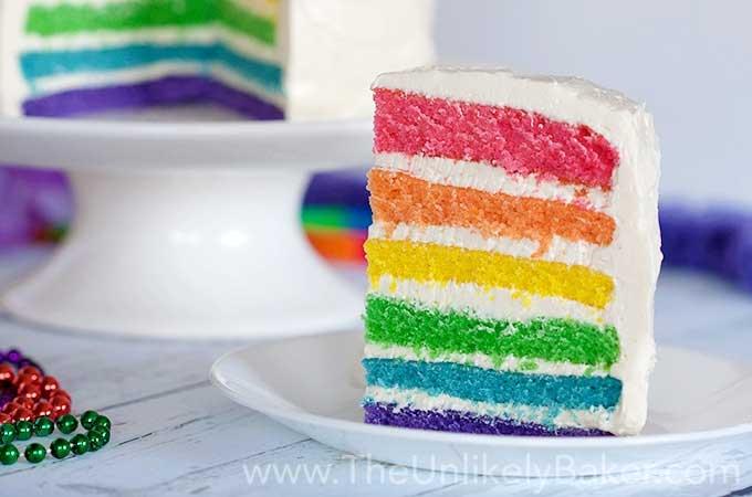 Rainbow Cake, le gâteau arc en ciel remplie d'une multitude de couleurs ! 3