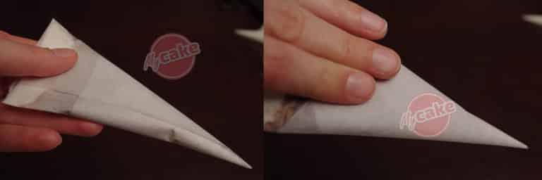 Comment réaliser facilement un cornet de pâtisserie en papier sulfurisé pour décorer et écrire 15